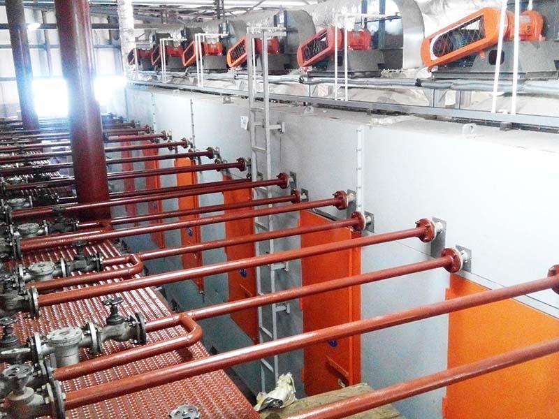 Ligne de production de plateaux d'oeufs en Russie